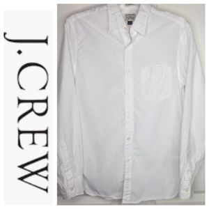 J Crew Slim Secret Wash White Button Up Shirt